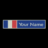 French Flag & Name